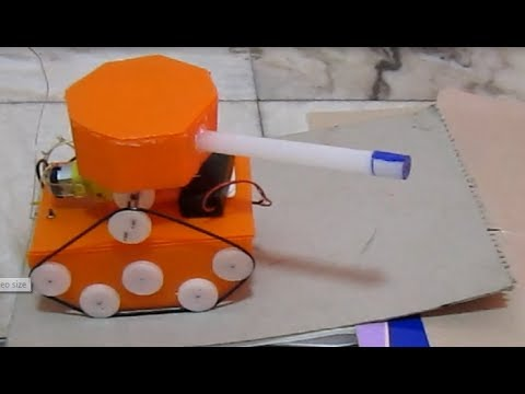 how to make a remote control tank at home