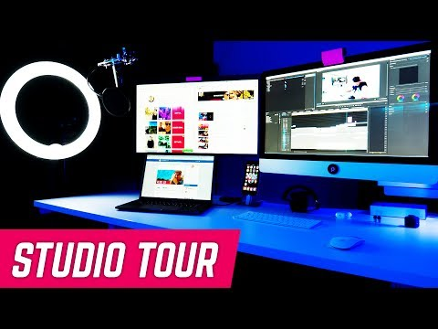 YOUTUBE STUDIO SETUP TOUR + NEW WEBSITE PREVIEW AT DIGITAL UNION