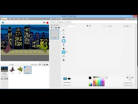 How to make a Flash Game in Scratch(Part 1) - Adding Sprites and Coding Fireball