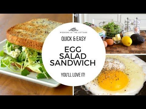 1 Minute Video! FRIED EGG SALAD SANDWICH