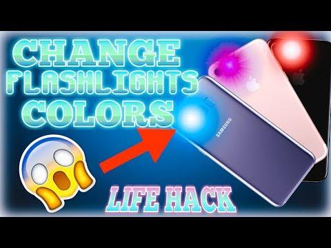 PHONE HACK | HOW TO CHANGE YOUR FLASHLIGHTS COLOR TO ANY COLORS!!!