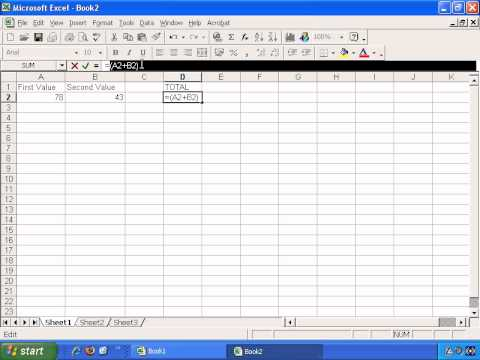 Introduction To Microsoft Excel - How To Create Excel Formulas For Basic Math Functions