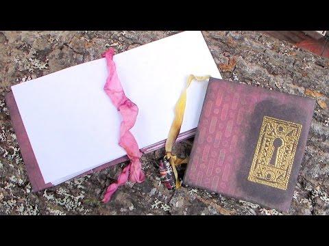 Frugal Square Minibook Tutorial Using up Old Scrapbook paper!
