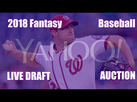 2018 Fantasy Baseball 10 Team Yahoo Auction Draft