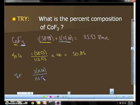 Percent Composition Hydrate SCREENCAST