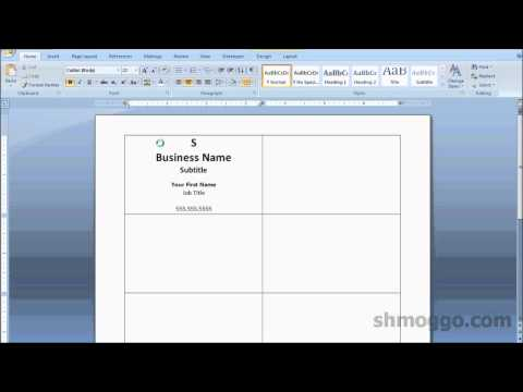 Printing Business Cards in Word | Video Tutorial