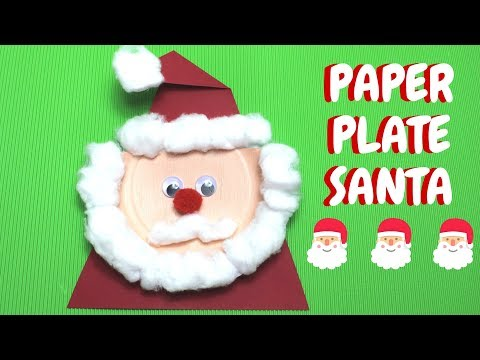 Paper Plate Santa | Christmas Ideas | Paper Plate Crafts