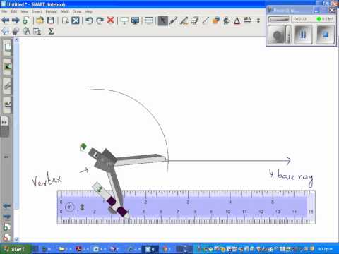 How to draw 60 degree angle with a ruler and compass