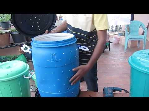 How to make a Do It Yourself (DIY) Aerobic Composting bin (soil and health - Shudh labh)