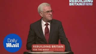 John McDonnell announces plan to give workers more ownership