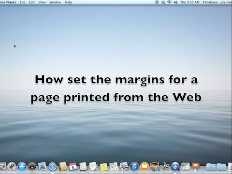 T Apple Tutorial How to set Margins when Printing a WebPage