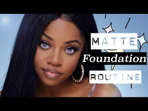 Full Coverage MATTE AF Foundation Routine | Cydnee Black