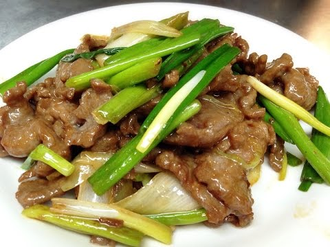Delicous Chinese Stir Fry Beef with Scallions Recipe 蔥爆牛肉 by CiCi Li