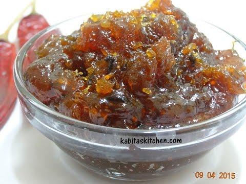 Aam ki Chutney Recipe-Kacche Aam ki Meethi Chutney-Raw Mango Sweet and Spicy Chutney