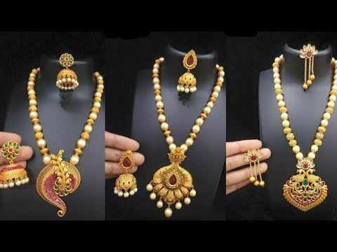 Latest Light Weight Designer Gold Necklace Designs - She Fashion
