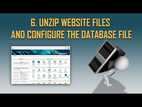 Unzip Website Files and Configure the Database file | Step by Step Host to host migration part 6