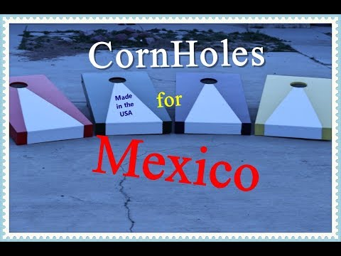 How to build Classic Cornhole game. These are for children in Mexico
