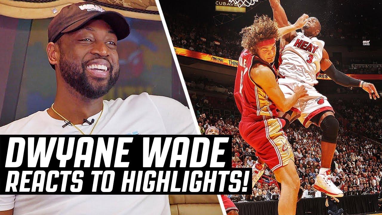 Dwyane Wade Reacts To Dwyane Wade Highlights | The Reel