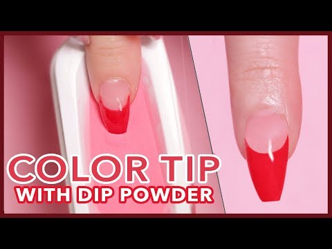 How to: Color French Tip Using Dip Powder