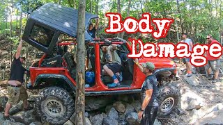 Download Wheeling The Hardest Trail At Rausch Creek! My Jeep Gets Some Body Damage Video