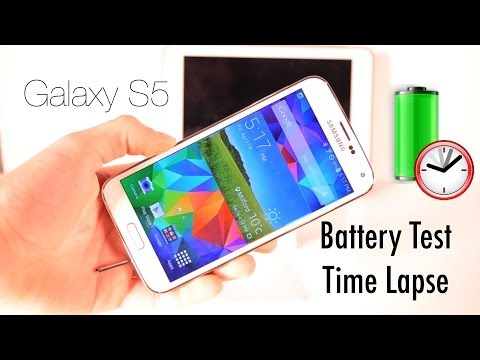Samsung Galaxy S5 Battery Drain Test (Time Lapse)