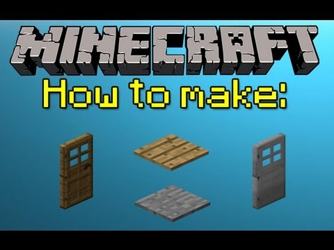MINECRAFT HOW TO MAKE DOORS AND PRESSURE PLATES