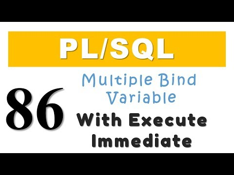 PL/SQL tutorial 86: Multiple Bind Variable with Execute Immediate of Dynamic SQL By Manish Sharma