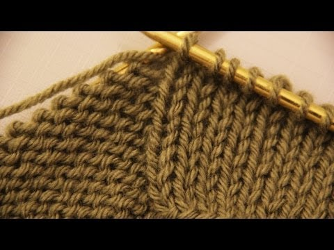 How to make a purl and knit stitches - basics of knitting. Video tutorial for beginners.