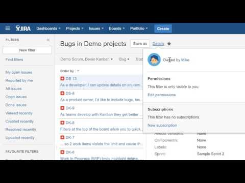 How To create Search filter in Jira
