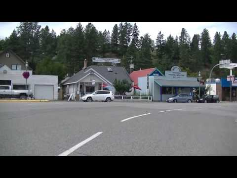 Driving in PRINCETON BC (British Columbia) Canada - Gold Mining Town - Similkameen region