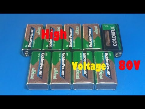 High voltage from 9v battery , Amazing idea 2018