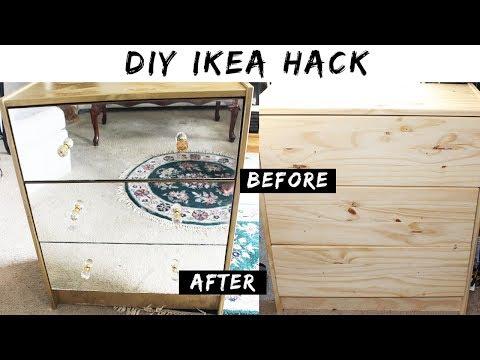 Ikea Hack | DIY Gold Metallic Mirror Dresser