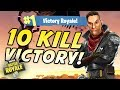 10 KILL EPIC VICTORY MY BEST GAME YET Fortnite Battle Royale DenkOps Victory Royale