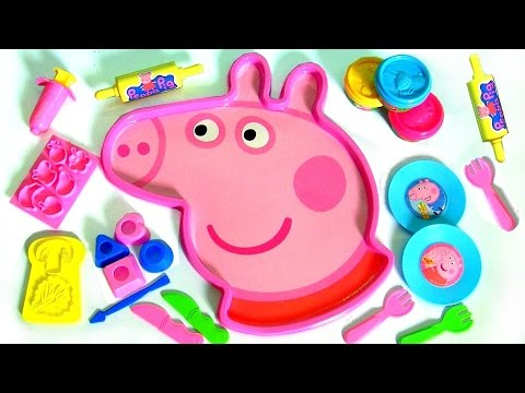 Giant Peppa Pig Head Play-Doh Mold 'N Play 3D Figure Maker Peppa's Face with Softee Dough & Play-Doh