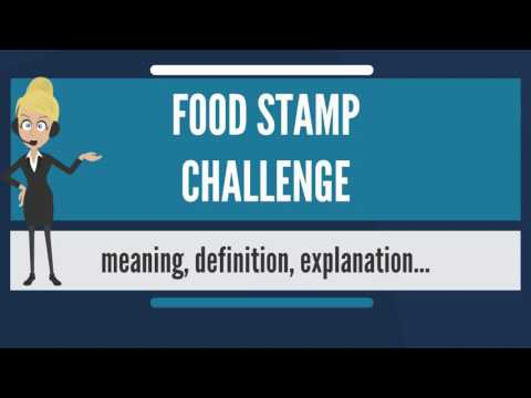 What is FOOD STAMP CHALLENGE? What does FOOD STAMP CHALLENGE mean? FOOD STAMP CHALLENGE meaning