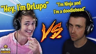 NINJA & DRLUPO IMPERSONATES EACH OTHER! *BEEF* - Fortnite Moments #133