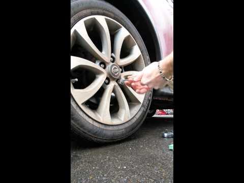 Wheel lock removal with no key 2011 juke