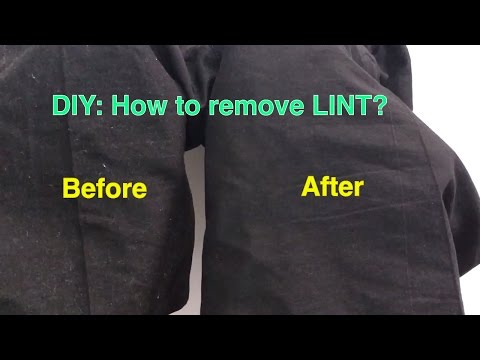 DIY: How to Remove LINT from Clothes quickly at home
