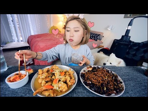 Home Sweet Home!! Black Bean Noodles + SweetnSour Pork Mukbang | KEEMI★
