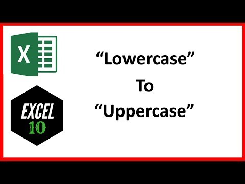 How To Change Lowercase Letter To Uppercase In Excel
