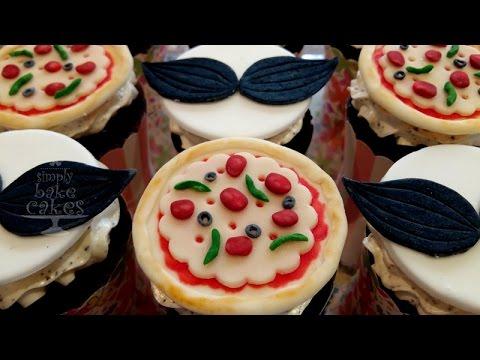 Pizza cupcakes - TUTORIAL