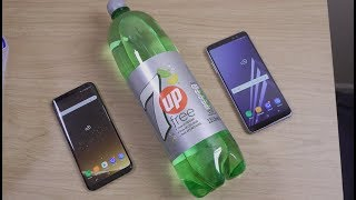 Samsung Galaxy A8 Plus Vs S8 Plus - 7up Freeze Test 24 Hours!
