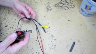 How to connect to those small backup camera power wires if you don