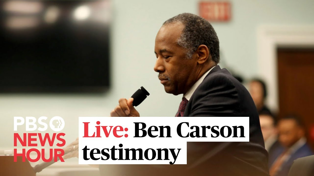 WATCH: HUD Secretary Ben Carson testifies before the House Financial Services Committee