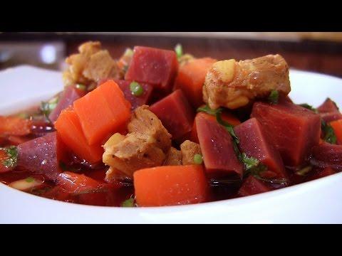 Beet Soup /Canh Cu Den  (English)