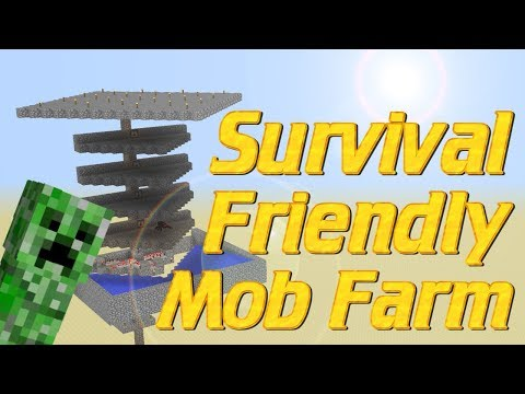 Minecraft: How to make a Mob Grinder in MInecraft | SURVIVAL FRIENDLY Mob Farm | Minecraft tutorial