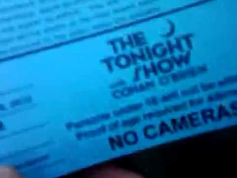 115_10 I GOT STANDBY TICKET #74, CONAN O' BRIEN TONIGHT SHO