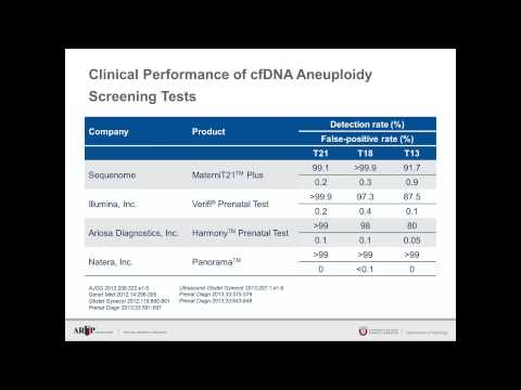 AACC 2015 Booth Presentation: Cell-free DNA Tests for Non-invasive Prenatal Aneuploidy Screening
