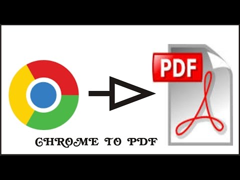 HOW TO CONVERT WEBPAGES INTO PDF WITH CHROME