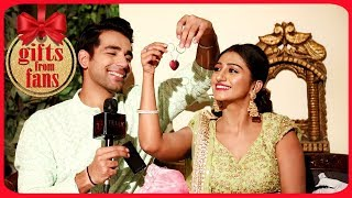 Mohena Singh & Rishi Dev Receive Gifts From Fans | Yeh Rishta | Telly Reporter Exclusive